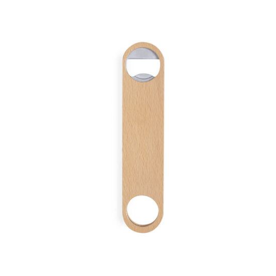 Abre garrafas ecológico de madeira personalizável