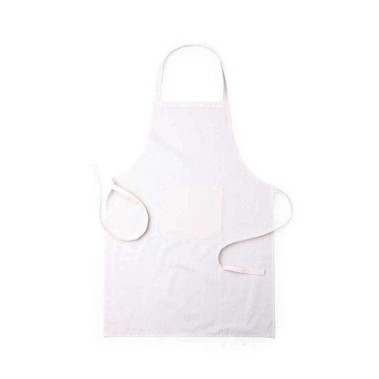 Avental de cozinha de algodão com bolso