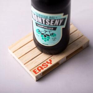 Base para copos palete de madeira personalizável