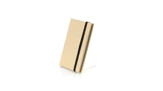 Bloco de notas A7 pautado de cartão reciclado