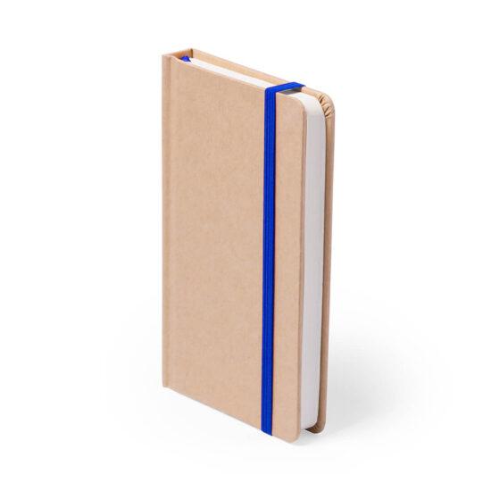 Bloco de notas azul A5 liso de cartão reciclado