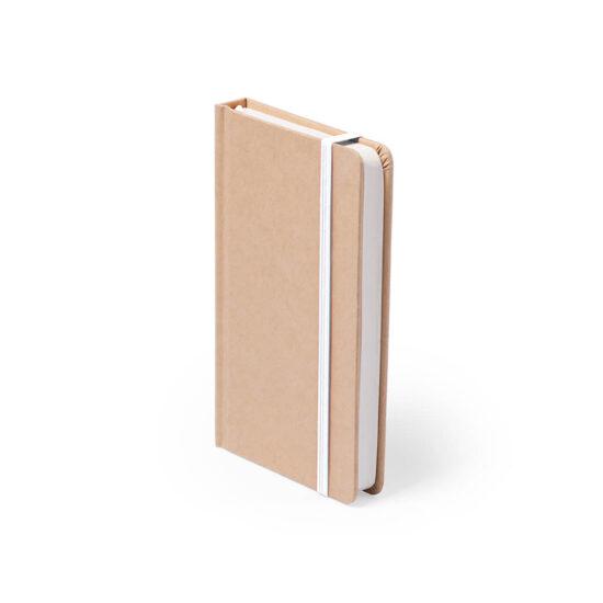 Bloco de notas branco A6 liso de cartão reciclado