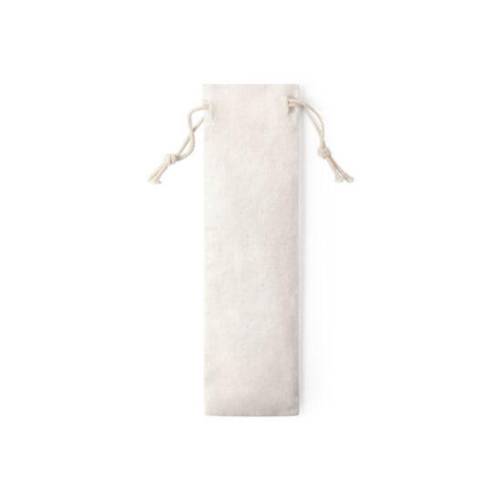 Bolsa de algodão para talheres de bambu