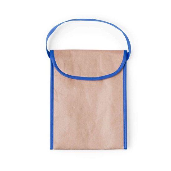 Lancheira térmica ecológica de papel azul