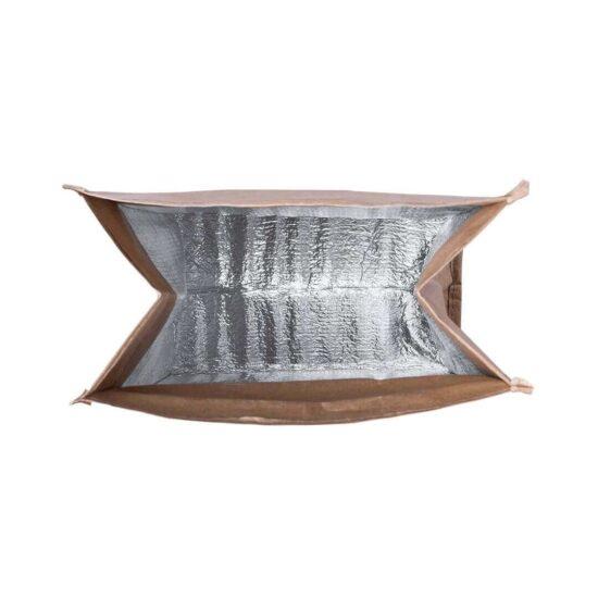 Interior lancheira térmica ecológica de papel