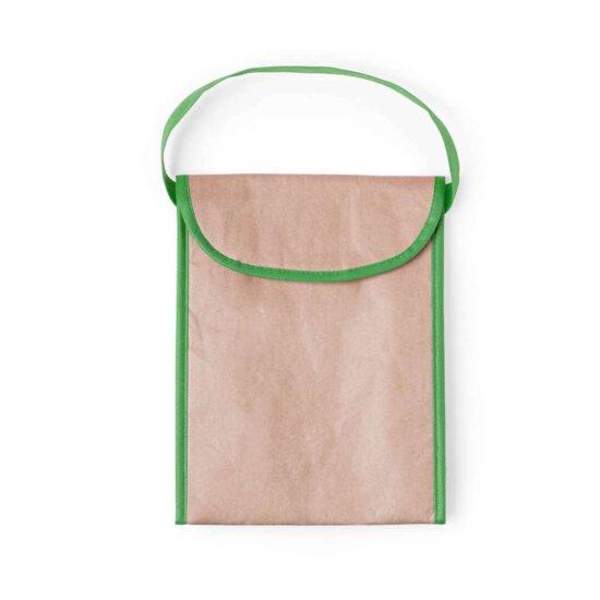 Lancheira térmica ecológica de papel verde
