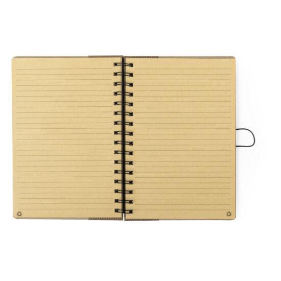 Caderno de argolas A5 pautado de papel reciclado