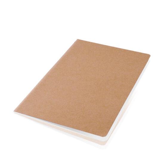 Caderno liso A5 com capas de cartão reciclado