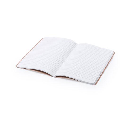 Caderno A5 pautado com capas de cartão reciclado