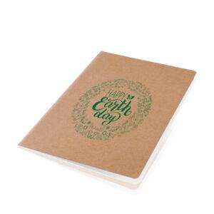 Caderno liso A5 de cartão reciclado personalizável