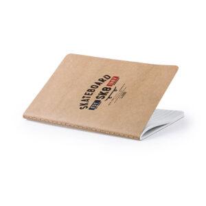 Caderno A5 pautado de cartão reciclado personalizável