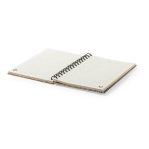 Caderno A5 pautado de cortiça e papel reciclado