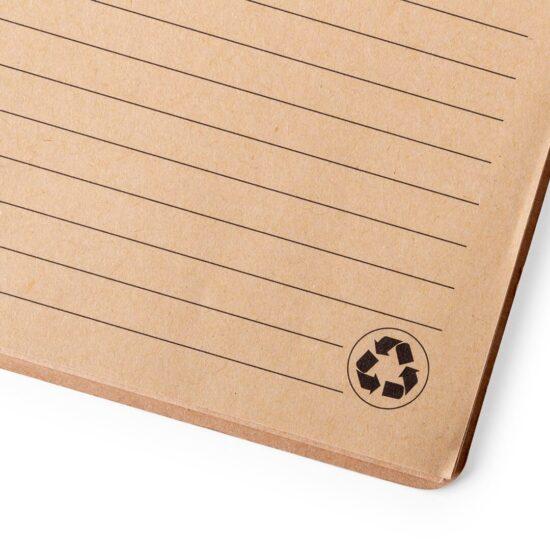 Papel reciclado de caderno A5 pautado