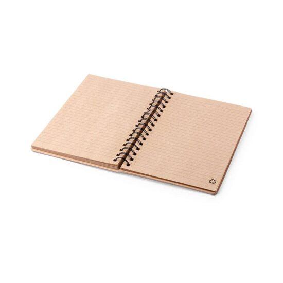 Caderno A5 pautado de bambu e papel reciclado