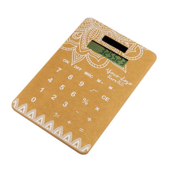 Calculadora solar de cartão reciclado personalizável