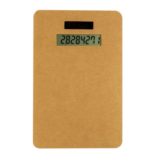 Calculadora solar de cartão reciclado