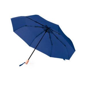 Chapéu de chuva azul pequeno de plástico reciclado