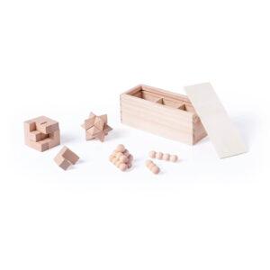 Conjunto de jogos de habilidade de madeira
