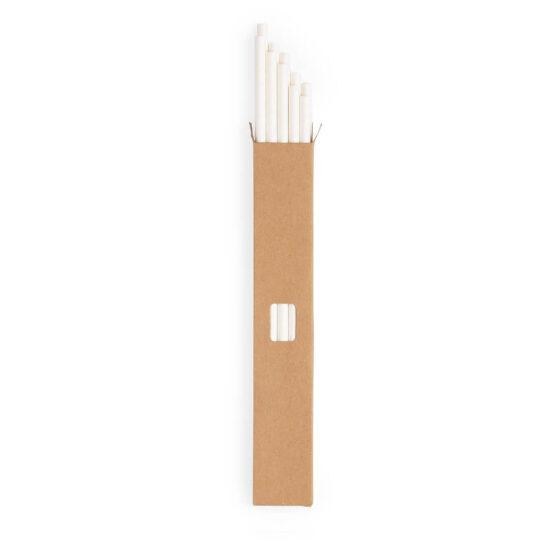 Conjunto de palhinhas brancas de papel