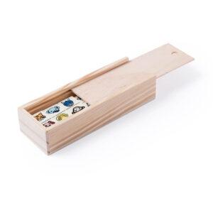 Jogo dominó infantil de madeira