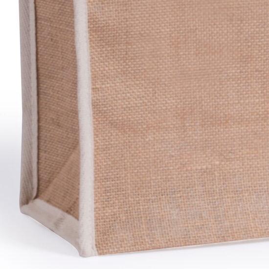 Saco ecológico de juta e algodão personalizável