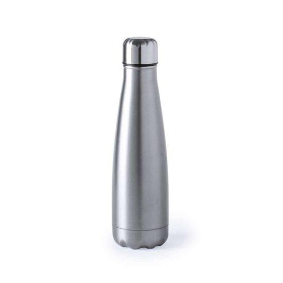 Garrafa reutilizável cinzenta de aço inoxidável