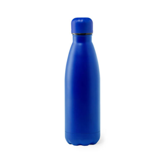 Garrafa reutilizável azul de aço inoxidável