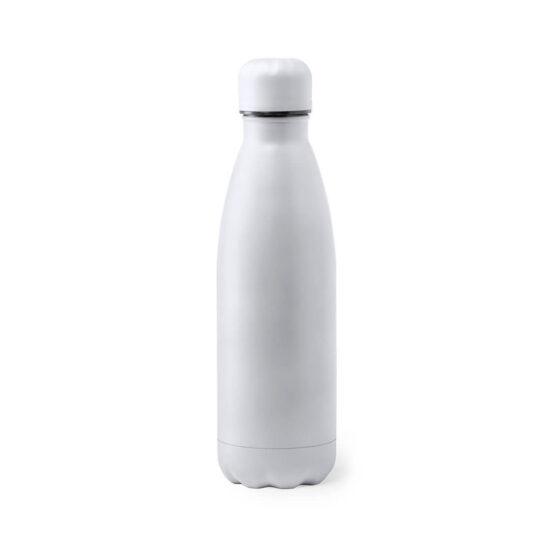 Garrafa reutilizável branca de aço inoxidável