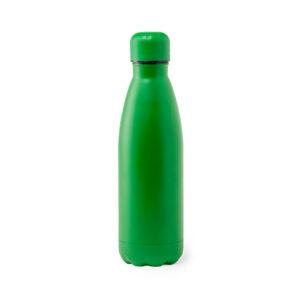 Garrafa reutilizável verde de aço inoxidável