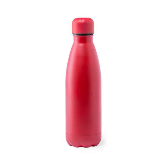 Garrafa reutilizável vermelha de aço inoxidável