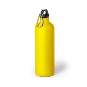 Garrafa amarela reutilizável de alumínio