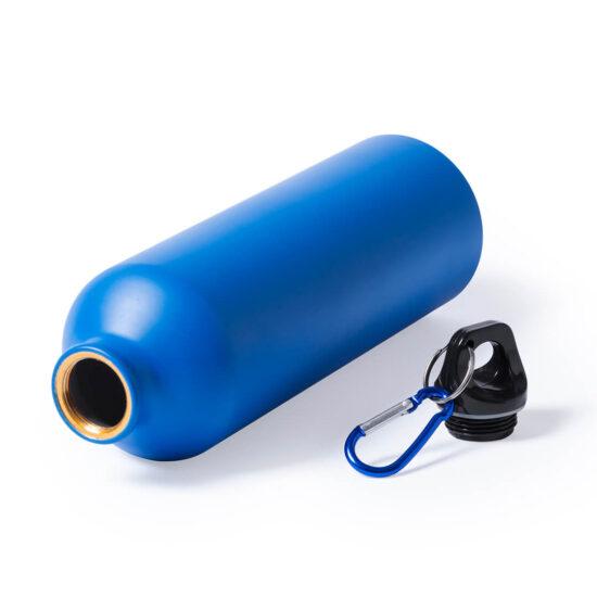 Garrafa azul reutilizável de alumínio