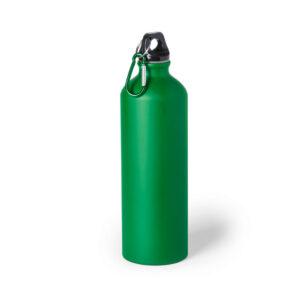 Garrafa verde reutilizável de alumínio
