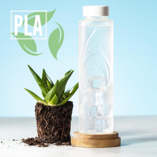 Garrafa reutilizável de PLA compostável