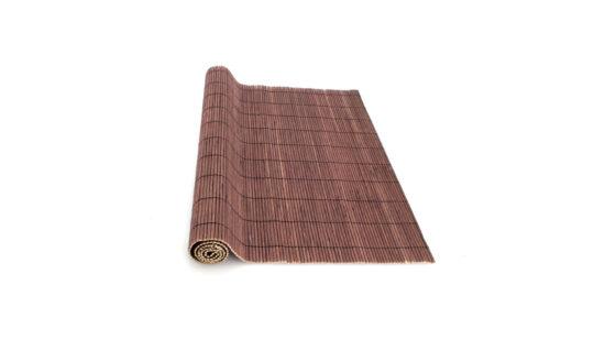 Individual enrolável de bambu