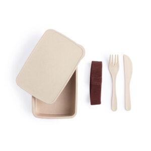 Kit lancheira ecológica de fibra de bambu