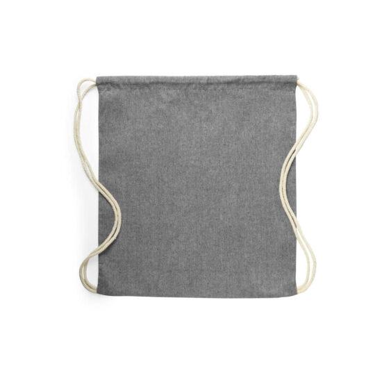 Mochila cinzenta com atilhos de algodão reciclado