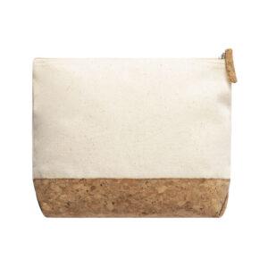 Necessaire ecológico de algodão e cortiça personalizável