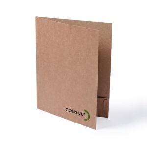 Pasta porta-documentos de cartão reciclado personalizável