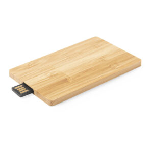 Pen de 16 GB de bambu em formato de cartão