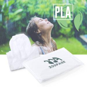 Poncho impermeável ecológico de PLA compostável