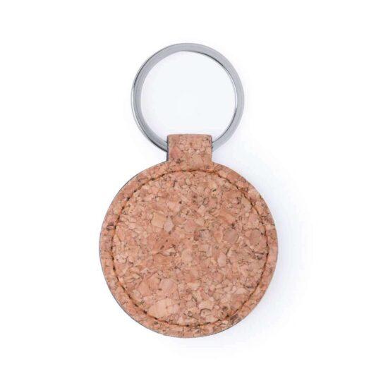 Porta-chaves de cortiça circular