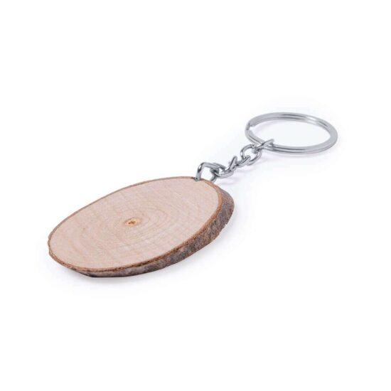 Porta-chaves tronco de madeira oval