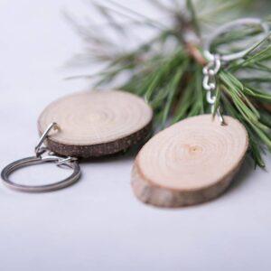 Porta-chaves tronco de madeira