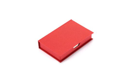 Porta notas vermelho de cartão reciclado