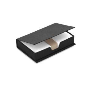 Porta notas preto de cartão reciclado