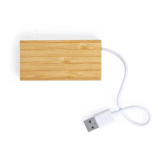 Porta USB de bambu