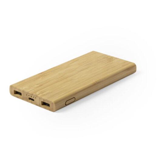 Power bank wireless de bambu