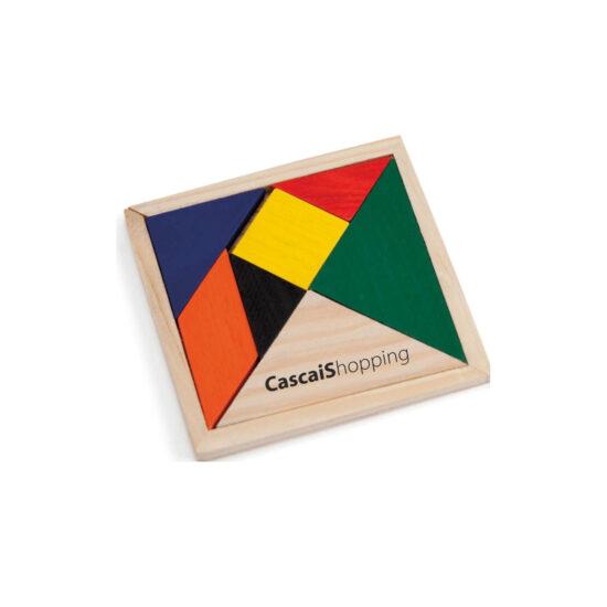 Puzzle tangram de madeira personalizável