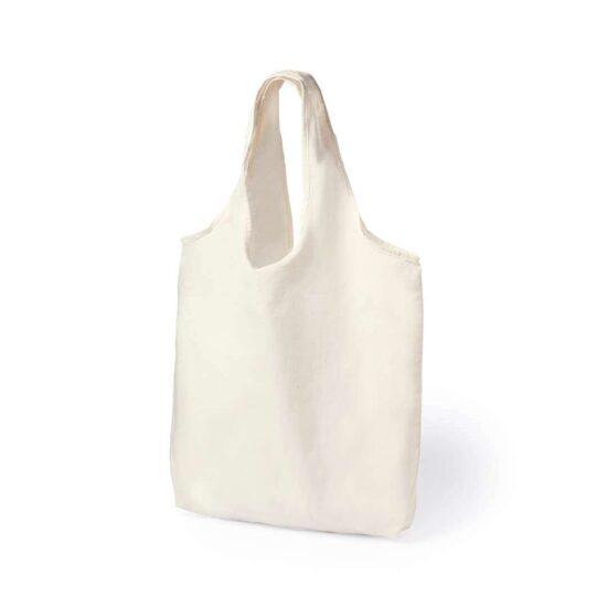 Saco reutilizável de algodão com alças curtas